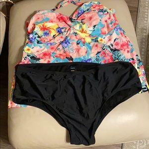 Catalina women's plus 3x 2 piece tankini swimsuit
